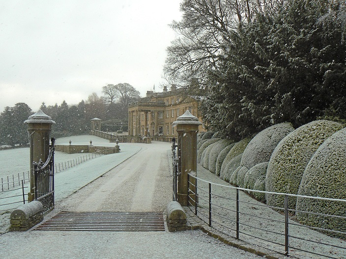 Broughton Hall in the Snow