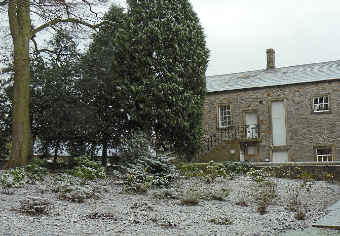 Stable Courtyard in the Snow