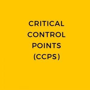 Critical control points ccp