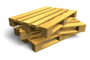 10269755 - stack of wooden shipping pallets isolated on white background
