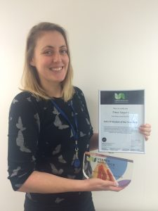 Tina Sayers with her HACCP Award