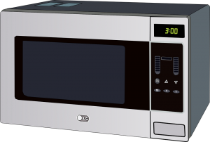 microwave reheating food